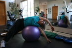 Woman Exercising on a Ball, Sante Fe, NM